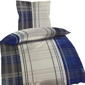 Hübsche Bettwäsche aus Fleece - blau 135x200 von Bertels
