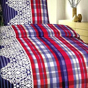 Kuschelige Bettwäsche aus Fleece - blau 135x200 von Bettenpoint