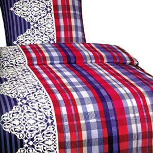Kuschelige Bettwäsche aus Fleece - blau 135x200 von Leonado Vicenti