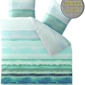 Schöne Bettwäsche aus Fleece - blau 200x220 von CelinaTex