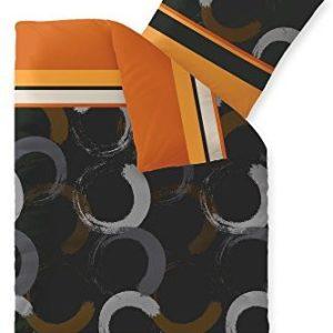 Hübsche Bettwäsche aus Fleece - braun 135x200 von CelinaTex