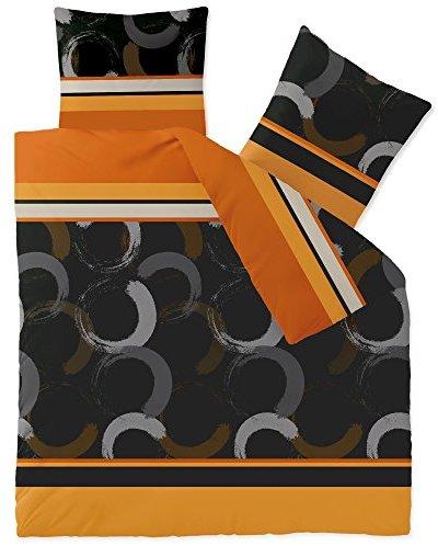 Schöne Bettwäsche aus Fleece - braun 200x220 von CelinaTex