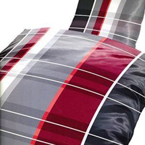 Kuschelige Bettwäsche aus Fleece - grau 135x200 von 1stB HOME