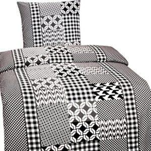 Hübsche Bettwäsche aus Fleece - grau 135x200 von Leonado Vicenti