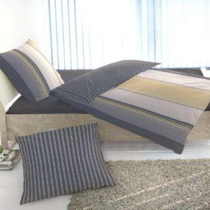 Hübsche Bettwäsche aus Fleece - grau 135x200 von Primera