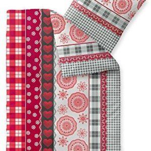 Hübsche Bettwäsche aus Fleece - grau 155x220 von CelinaTex