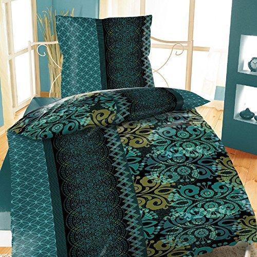 traumhafte bettw sche aus fleece gr n 135x200 von bertels bettw sche. Black Bedroom Furniture Sets. Home Design Ideas