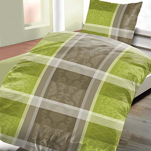 sch ne bettw sche aus fleece gr n 135x200 von bertels. Black Bedroom Furniture Sets. Home Design Ideas