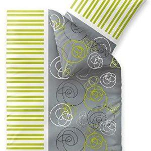 Schöne Bettwäsche aus Fleece - grün 155x220 von CelinaTex