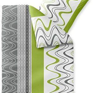 Traumhafte Bettwäsche aus Fleece - grün 155x220 von CelinaTex