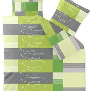 Hübsche Bettwäsche aus Fleece - grün 200x220 von CelinaTex