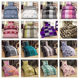 Schöne Bettwäsche aus Fleece - petrol 135x200 von Bettenpoint