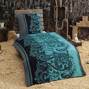 Kuschelige Bettwäsche aus Fleece - petrol 135x200 von Bettenpoint