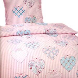 Hübsche Bettwäsche aus Fleece - rosa 135x200 von Leonado Vicenti