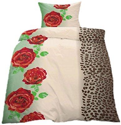sch ne bettw sche aus fleece rosen rot 135x200 von home impression bettw sche. Black Bedroom Furniture Sets. Home Design Ideas