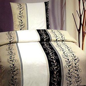 Hübsche Bettwäsche aus Fleece - schwarz 135x200 von Bettenpoint