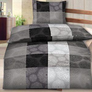 Kuschelige Bettwäsche aus Fleece - schwarz 135x200 von Bettenpoint