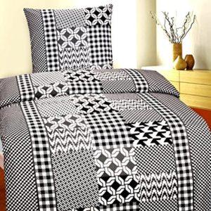 Traumhafte Bettwäsche aus Fleece - schwarz 135x200 von Bettenpoint