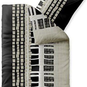 Kuschelige Bettwäsche aus Fleece - schwarz 135x200 von CelinaTex