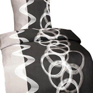 Schöne Bettwäsche aus Fleece - schwarz 135x200 von Leonado Vicenti