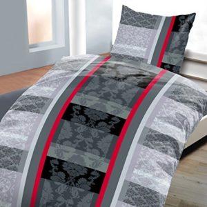 Hübsche Bettwäsche aus Fleece - schwarz weiß 135x200 von daspasstgut
