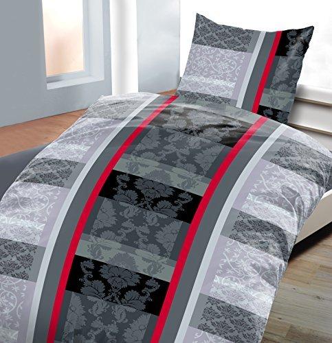 h bsche bettw sche aus fleece schwarz wei 135x200 von daspasstgut bettw sche. Black Bedroom Furniture Sets. Home Design Ideas