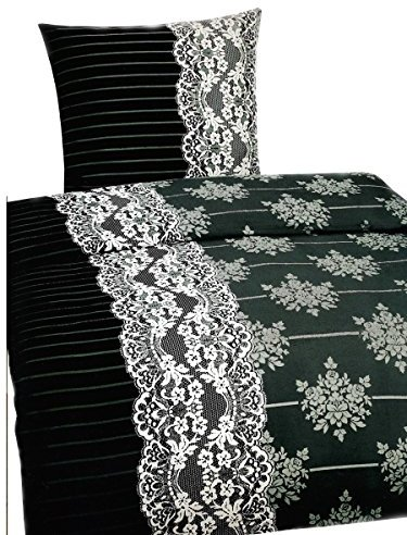 h bsche bettw sche aus fleece schwarz wei 135x200 von leonado vicenti bettw sche. Black Bedroom Furniture Sets. Home Design Ideas