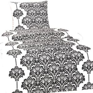 Traumhafte Bettwäsche aus Fleece - schwarz weiß 135x200 von Leonado Vicenti
