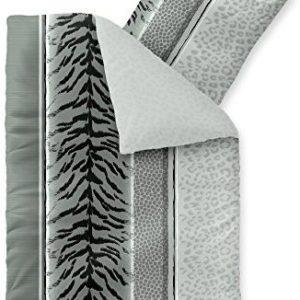 Hübsche Bettwäsche aus Fleece - schwarz weiß 155x220 von CelinaTex