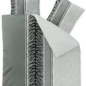 Traumhafte Bettwäsche aus Fleece - schwarz weiß 200x220 von CelinaTex