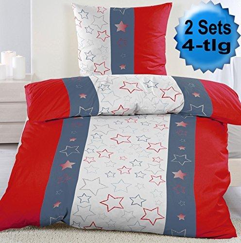 sch ne bettw sche aus fleece sterne blau 135x200 von kh haushaltshandel bettw sche. Black Bedroom Furniture Sets. Home Design Ideas