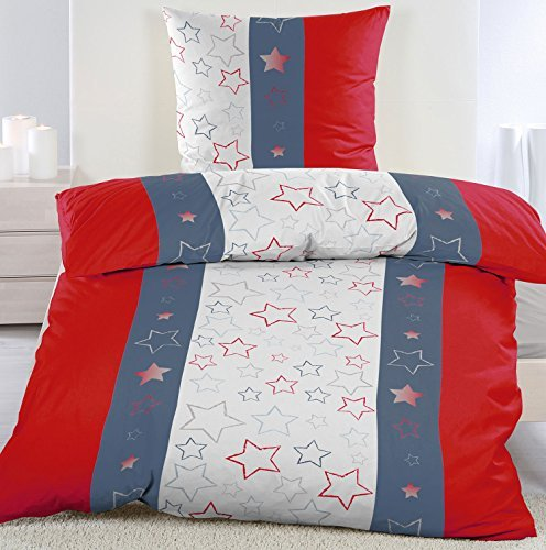 h bsche bettw sche aus fleece sterne blau 155x220 von kh. Black Bedroom Furniture Sets. Home Design Ideas