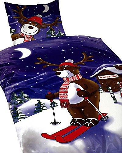 traumhafte bettw sche aus fleece weihnachten braun 135x200 von 1stb home bettw sche. Black Bedroom Furniture Sets. Home Design Ideas