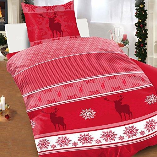 h bsche bettw sche aus fleece weihnachten gr n 155x220 von bertels bettw sche. Black Bedroom Furniture Sets. Home Design Ideas