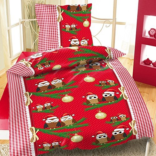 sch ne bettw sche aus fleece weihnachten gr n 155x220 von bertels bettw sche. Black Bedroom Furniture Sets. Home Design Ideas
