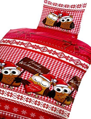 sch ne bettw sche aus fleece weihnachten wei 135x200 von 1stb home bettw sche. Black Bedroom Furniture Sets. Home Design Ideas