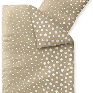 Hübsche Bettwäsche aus Fleece - weiß 135x200 von CelinaTex