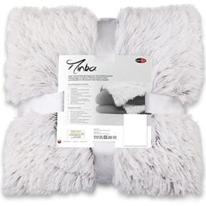 Hübsche Bettwäsche aus Fleece - weiß 200x220 von CelinaTex