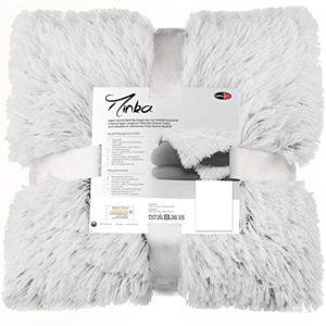 Kuschelige Bettwäsche aus Fleece - weiß 200x220 von CelinaTex