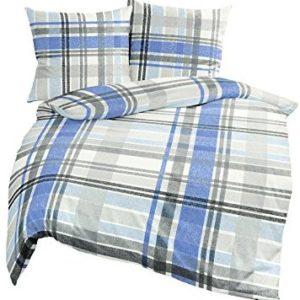Kuschelige Bettwäsche aus Jersey - blau 135x200 von Bierbaum