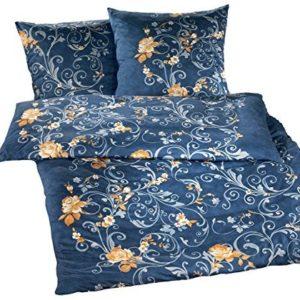 Traumhafte Bettwäsche aus Jersey - blau 135x200 von Brennet