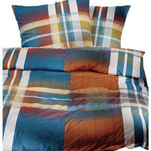 Schöne Bettwäsche aus Jersey - blau 135x200 von Brennet