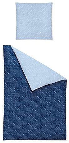 Schöne Bettwäsche aus Jersey - blau 135x200 von Irisette