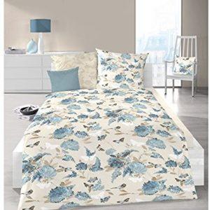 Kuschelige Bettwäsche aus Jersey - blau 135x200 von Schlafgut