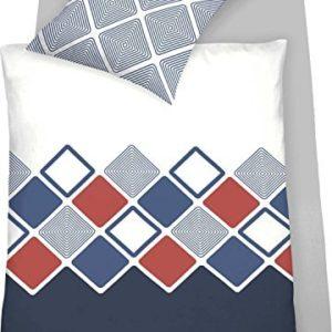 Hübsche Bettwäsche aus Jersey - blau 135x200 von Schlafgut
