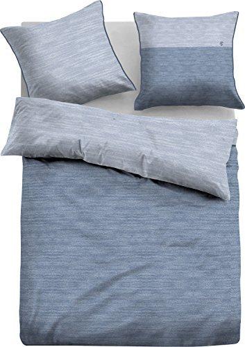 kuschelige bettw sche aus jersey blau 135x200 von tom. Black Bedroom Furniture Sets. Home Design Ideas