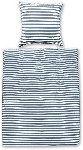 Traumhafte Bettwäsche aus Jersey - blau 135x200