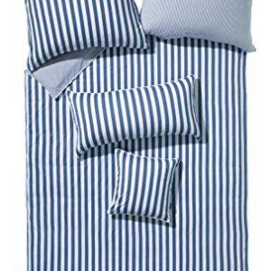 Kuschelige Bettwäsche aus Jersey - blau 155x220 von Erwin Müller