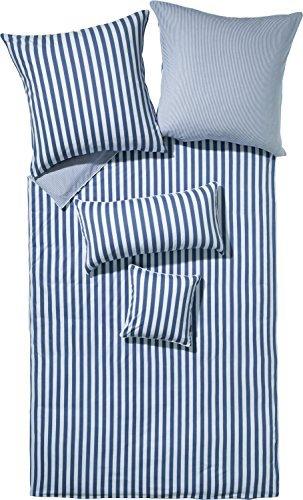 kuschelige bettw sche aus jersey blau 155x220 von erwin. Black Bedroom Furniture Sets. Home Design Ideas