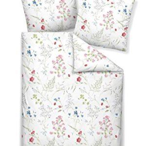 Kuschelige Bettwäsche aus Jersey - blau 155x220 von Janine Design